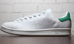 Wholesale 100 Real picture ladys fashion pink RAF SIMONS STAN SMITH white green sneaker women and men sports shoes running shoe size