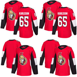 #65 Erik Karlsson Jerseys Ottawa Senators 2017-2018 Season Newest Blank Hockey Jerseys All Stiched