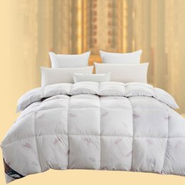 Wholesale Top Selling Thermal Winter Quilt Soft Duvet Comforter Blankets Cotton Bedding Sets Yellow Pink White JQ0051