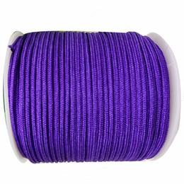 Nylon Cord+1mm Rattail Satin Braid Thread WIre Macrame Rope Shamballa Bracelet Beading Cords String Accessories 350m Roll