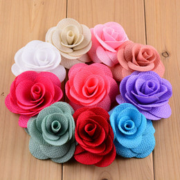 Wholesale Hot New Corn Cloth DIY Rose Flowers Headwear quot Colours Fascinator Fabric Flowers Headband Baby Accessories