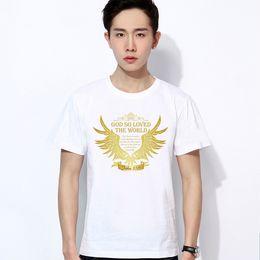 2017 new mens christian t shirts, 100% cotton short sleeves black white tee shirts ideas, God Jesus Faith Love printing ideas shop store