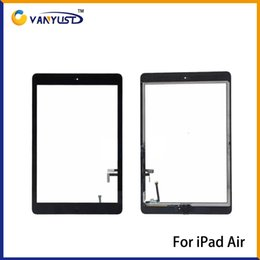 Wholesale Touch Screen Glass Panel with Digitizer Buttons Adhesive for iPad air Black and White Replacement Repair