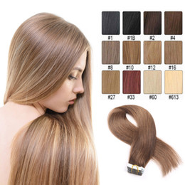 Tape in Hair Extensions 8A Grade Brazilian Remy Straight 20pcs PU Skin Weft Human Hair Extensions Direct Factory Price Can Be Permed