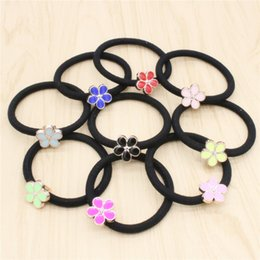 Jmyy Jewelry 2017 New Women Nice Flower Hair Rubber Bands Multicolor Elastic Hair Jewelry Hair Accessories
