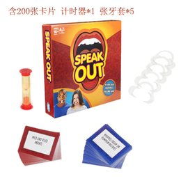 Wholesale 2016 Speak Out Game KTV party game cards for party Christmas gift newest best selling toy Toothpins Game Toys Big Mouth Desktop Games
