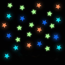 Wholesale 27pcs PVC beautiful luminous meteor shower wall sticker fluorescent stars glow in the dark Luminous Fluorescent Wall Stickers