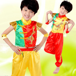 2017 new Hot products Children Longfeng performance clothing traditional national clothing waist drum clothing Chinese knot Chinese New