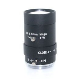 "5-50mm CS LENS 1 3"" IR CS Mount Varifocal Manual Iris HD MP CCTV Lens for Security Cameras BOX"