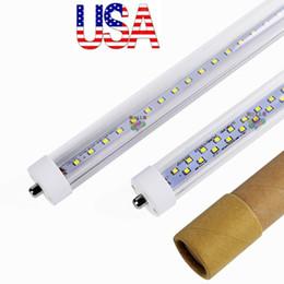 Stock In US + Single Pin FA8 8ft led tubes lights t8 8 feet led lights tubes Double Sides 384LEDs AC 85-265V
