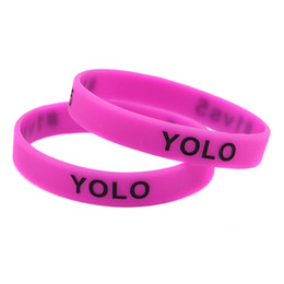 Wholesale 100PCS Lot YOLO 1VS5 Silicone Wristbands Bracelet Perfect To Use In Any Benefits Gift For Gamers