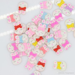 Factory direct sale Resin cartoon dolls resin squint rabbit diy mobile phone beauty of material resin accessories