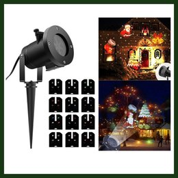 Wholesale Holiday Decoration Christmas LED Rotating Projector Lamp Pattern Replaceable Lens Indoor Outdoor Garden Lamp Waterproof Holiday Lights