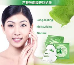 Wholesale Skin Care Natural Aloe Vera Gel Facial Mask Moisturizing Oil Control Shrink Pores Brightening Hyaluronic acid Facial Mask DHL Free shopping