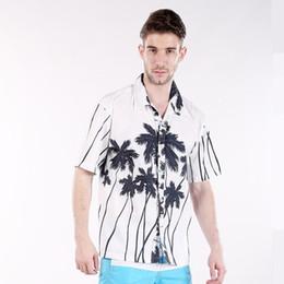 Wholesale- plus size 4XL men's shirts Summer style Hawaiian shirt men Casual Polyester brand Blouse Short Sleeve Flower Dress Shirts