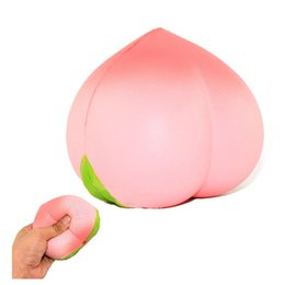 Wholesale Squishy Pink Peach Slow Rising Cream Scented Realistic Squeeze Phone Straps Kids Adult Toy