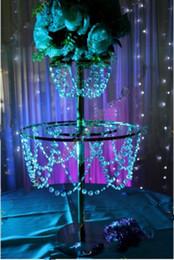 Promotion tableau acrylique clair Centres de table en chandelier en acrylique transparent pour arrangement floral