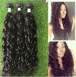3pcs lot Water Wave 8a mongolian Virgin Hair Natural Wavy Hair Extensions mongolian Wet and Wavy Human Hair loose curl