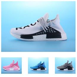 Wholesale Zapatos calientes del aumento de Pharrell Williams Hu de la RANURA HUMANA de la venta NMD Zapatos de la manera al aire libre de Breathability NMD Runner de los mejores hombres de la calidad