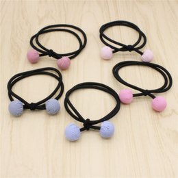 2017 New Fabric Bar Across Ball Hair Accessories Multicolor Elastic Hair Rubber Bands Hair Jewelry For Women Gift