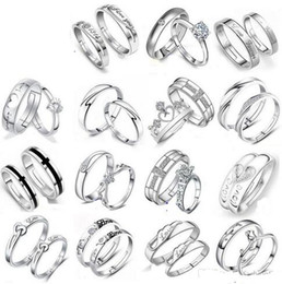 Mix 28 Styles 925 Sterling Silver Jewerly Rings DIAMOND ENGAGEMENT RING & WEDDING BAND Couple Ring SET Free Shipping