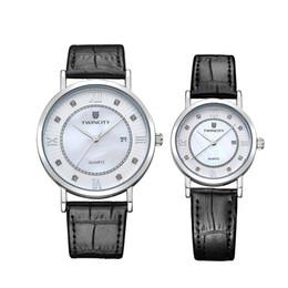 Wholesale TWINCITY montre bracelet de marque Hommes Femmes Hommes Montre quartz Chronographe reloj Relogio marque cuir automatique date Masculino montres bracelets