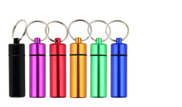 Wholesale Best price Waterproof Aluminum Pill Box Case Bottle Cache Holder Keychain Container Medicine Box Health Care