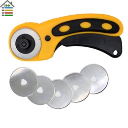 Wholesale mm Rotary Cutter Set with PC Spare Blades Fit Olfa Dafa Fiskars Cutting Fabric Paper Circular Cut Patchwork Craft Leather