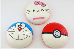 Wholesale USB Household Cleaning Cartoon Sweeper Robot Vacuum Cleaner AUTO CLEANER ROBOT Bikachu Pocket Hello kitty Doraemon sweeping robot