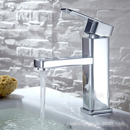 Wholesale Bathroom Tap Washbasin Sink Faucet Box modern Mixer tap Faucets Sanitary Ware Ceramic Plate Spool Polished Deck Mounted Decorated Brand