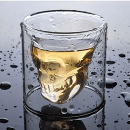 Doomed Crystal Skull Shot glass Cup Head Vodka Shot Glass Cup Beer Wine Whisky Mug Drink ware 25-250ML Kitchen Dining Bar Retail Box