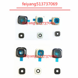 10pcs Original new for Samsung Galaxy s6 G920 S6 Edge g925 Back Rear Camera Lens And Lens Cover with real glass