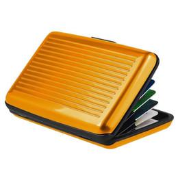 Crédit rapide en Ligne-Aluminium Business ID Carte de crédit Portefeuille étanche RFID Card Holder Cas Boîte de poche Livraison rapide dans le monde entier