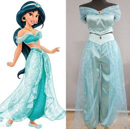 Wholesale Aladdin Jasmine Princess cosplay Dress