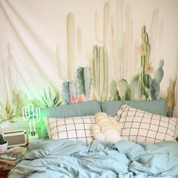 Green plants cactus hanging cloth tapestry,multi-function tapestry 150*200cm, table cloth, wall cloth, wearable beach blanket