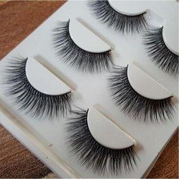 Promotion cils de scène 3D tridimensionnel multi-couches de coton Selles épaisses cils Cils faits à la main Faux maquillage de scène cils fumés trop 3D-06l