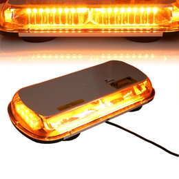 44 LED High Intensity Law Enforcement Emergency Hazard Warning Flashing Car Truck Construction LED Top Roof Mini Bar Strobe Light with Magne