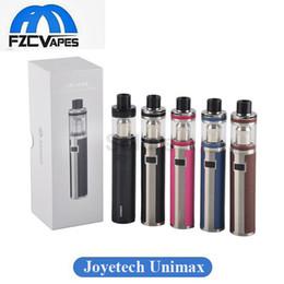 Original Joyetech Unimax 22 Kit 22mm 25 25mm Diameter Stater Kit 2200mAh 3000mah with 2ml 5ml E Cig Vape Kit