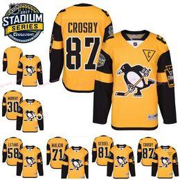 2017 série de hockey 2017 Stadium Series Hockey Jersey Hommes Pittsburgh Penguins 81 Phil Kessel 87 Sidney Crosby 30 Matt Murray 58 Kris Letang 71 Evgeni Malkin série de hockey à vendre