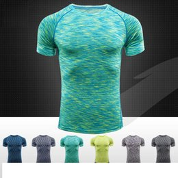 Wholesale Compression Shirt Men Tops Base Layer Short Sleeve T Shirts colors body engineer fitness clothes DHL