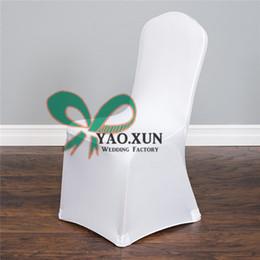 White Color Cheap Price Banquet Wedding Lycra Spandex Chair Cove