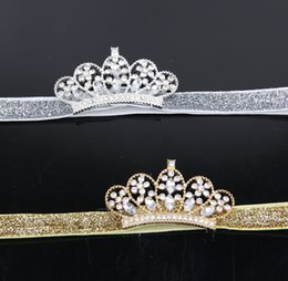 Wholesale Baby Infant Luxury Shine diamond Crown Headbands girl Wedding Hair bands Children Hair Accessories Christmas boutique party supplies kids