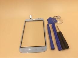 """Logos sim à vendre-Haute qualité 4.5 """"écran tactile pour LG L70 double carte SIM D325 écran tactile numériseur capteur verre lentille panneau avec logo noir blanc"""