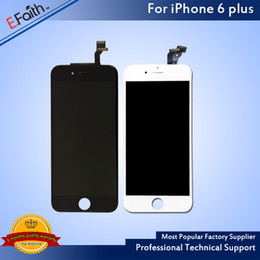 For White & Black LCD Display Touch Digitizer Complete Screen With Frame Full Assembly Replacement For iPhone 6 Plus