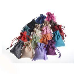 Compra Online Latas de papel-Nuevos bolsos de alta calidad de la joyería de la cuerda de lino del punto de Víspera de Todos los Santos de la decoración La viga del bolsillo de imitación de la respuesta de la boda puede ser modificado para requisitos particulares tazas de pajas de papel