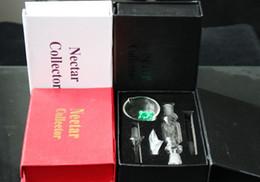 Ongles en verre pour l'huile à vendre-Miel Peigne Nectar Collector Kit Avec Titeless Titane Quartz Clou 10mm Nector Kit Pétrolières Bongs De Verre Tubes D'eau En Verre Recycleur D'huile