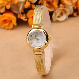 New Ladies Fashion Watches Women Watch Girls Royal Gold Small Dial Bracelet Quartz Stainless Steel Wrist watch Gold Clock