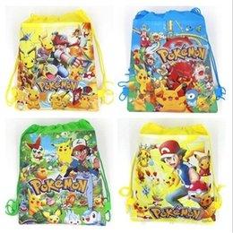 Wholesale Kids Drawstring Backpacks Designs Cute Cartoon Baby Backpacks Diaper Bag Non woven Backpacks for Girls and Boys