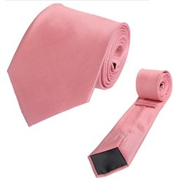 Tie Dk Pink Flamingo Plaid Hombre Hombre Flecha Krawatte Wide Jacquard Tejido Corbata para formal Wedding Party Groom desde fabricantes
