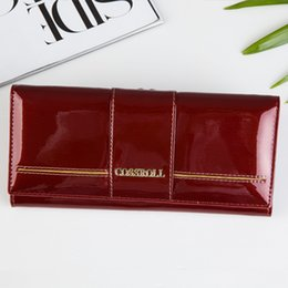 Cossroll Now Lady Cowhide genuine leather wallet women long section top cow leather women purse with zipper coin wallets